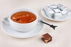 Herbata z czekoladą Obraz Royalty Free