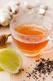 Herbata z imbirem, cytryną i miodem, fotografia stock