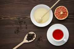 Herbata z miodem Obraz Stock