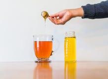 Herbata z miodem Obrazy Stock