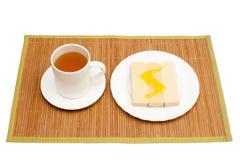 Herbata z miodem i goframi Fotografia Royalty Free