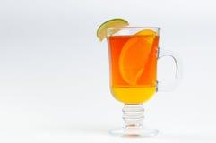 Herbata z miodową cytryną w szkle Zdjęcia Stock