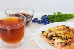 Herbata z pizzą Obrazy Stock