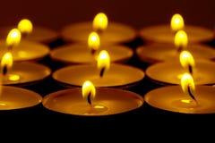 Herbata zaświeca świeczki z ogieniem Zdjęcia Stock