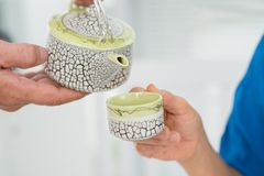 Herbata, zadawala Fotografia Stock