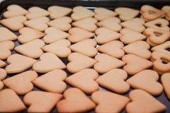herbatniki w kształcie serca Fotografia Stock