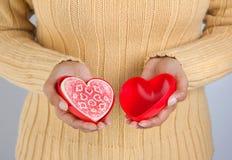 herbatniki w kształcie serca Fotografia Royalty Free