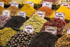Herbaty i pikantność w rynku Fotografia Stock