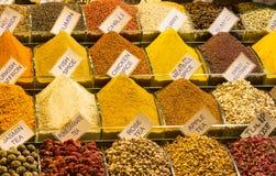 Herbaty i pikantność w rynku Obraz Stock