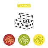 Herbaty pudełko z herbacianą torbą Zdjęcie Stock