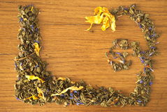 Herbaty rama Zdjęcia Royalty Free