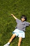 Herbe 2 heureux Photos libres de droits