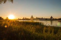 Herbe au coucher du soleil Photos libres de droits