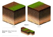herbe de bloc du paysage 3D Photographie stock libre de droits