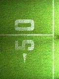Herbe de football américain Image stock