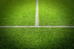 Herbe de stade de terrain de football du football Photo libre de droits