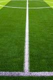 herbe de terrain de football Image libre de droits