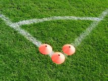 Herbe du football photographie stock