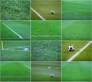 herbe du football Image stock