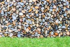 Herbe en pierre et verte Photographie stock