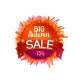 Herbe et bande de whith d'Autumn Sales Banner Photos stock