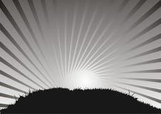 Herbe et ciel, abstraits Images stock
