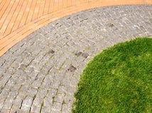Herbe et pierres Photos libres de droits