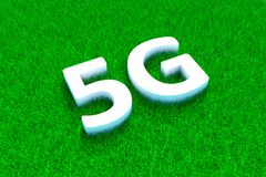 herbe 5G verte Photo stock