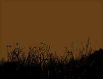 Herbe noire avec le fond brun. Vecteur Photo libre de droits
