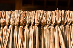 Herbe obligatoire avec le noyau en bois Image libre de droits