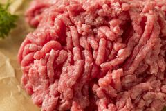Herbe organique Fed Ground Lamb Meat images stock