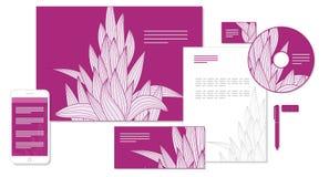 Herbe stylisée pour le stylet marqué Image libre de droits