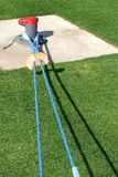 Herbe verte de corde bleue Images libres de droits