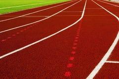 Herbe verte de terrain de football Texture Image stock