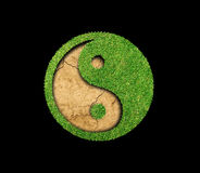 Herbe verte de Yin Yang photo stock