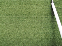 Herbe verte du football du football de golf de yard Images stock