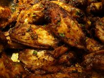 Herbed Chicken Wings Stock Images