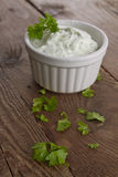 Herbed quark. With fresh spices Stock Photos