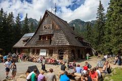 Herberg in de bergen royalty-vrije stock foto