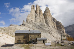 Herberge catinaccio Dolomit Stockbilder