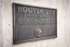 Herbert Hoover Dam Plaque Royalty Free Stock Photography