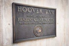 Herbert Hoover Dam Plaque Royalty Free Stock Photography