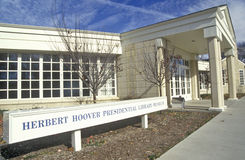 Herbert Hoover Presidential Library Museum, branche occidentale, Iowa Photos libres de droits
