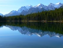 Herbert Lake. In Banff National Park, Alberta, Canada Stock Images