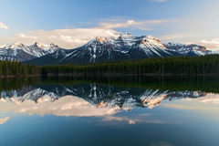 Herbert Lake, Alberta, Canada Stock Afbeeldingen
