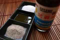 Herbes, épice et sauce asiatiques Images stock