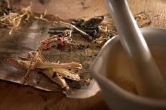Herbes chinoises Photographie stock