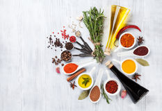 Herbes, condiments et épices images libres de droits