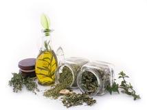 Herbes curatives et fleurs comestibles 3 Images stock