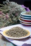 Herbes de Провансаль, смесь высушенных рассматриваемых трав типичными области Провансали, смесей часто содержит смачное, майоран, стоковая фотография